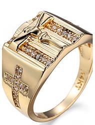 Ring Settings Ring  Luxury Elegant Noble Zircon Cross Women's  Rhinestone Euramerican Fashion Party Wedding Movie Gift Jewelry