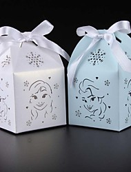 10pcs Elsa and Anna Wedding Favor Box Candy Box Party Decor Baby Shower Gift Box kids birthday party decoration