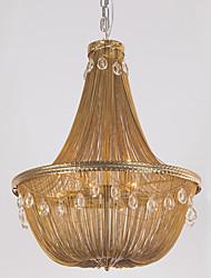 Lâmpadas de alumínio lustres retro luz pendente e12 / e14 / designer luzes pendentes / latão antigo / sala de estar / inoxidável