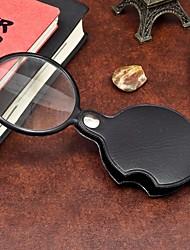 1шт портативный 60 мм лупы мини лупы инструмент для чтения луча для ночного чтения ramdon цвет