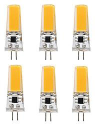 3W Luci LED Bi-pin T 1 COB 300 lm Bianco caldo Bianco V 6 pezzi