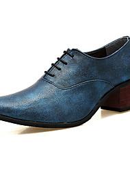 Herren Schuhe PU Frühling Herbst Komfort Outdoor Für Schwarz Silber Rot Blau