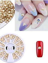 Pinpai Art 2 Hemming Pearl Semi Flat-bottomed DIY Nail Art Stickers Drilling Ornament Boxed Decoration Rhinestone Pearls  Cosmetic Nail Art Design