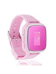 Kid's Smart Watch Digital Silicone Band Blue Silver Pink