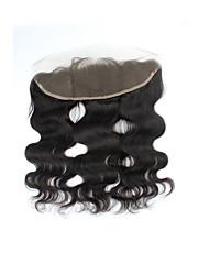 Vente directe d'usine naturel noir brésilien remy cheveux humains fermeture à lacets suisses corps vague partie libre 13 * 4 fermetures