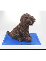 Dog Bed Pet Mats & Pads Solid Portable Soft Blue
