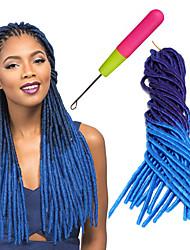 Crochê Dreadlocks Extensões de cabelo fibra sintética Tranças de cabelo