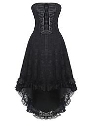 Жен. Платье-корсет Ночное белье Сексуальные платья Увеличивающий объем Ретро Цветочный