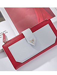 Women Coin Purse PU Canvas All Seasons Casual Outdoor Rectangle Magnetic Light Blue Blushing Pink Red