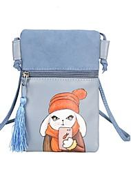 Femme Mobile Bag Phone Polyuréthane Toutes les Saisons Décontracté Pochette à Chaînes Fermeture Bleu Noir Rose Claire Beige Gris
