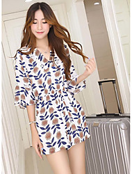 Women's Casual/Daily Rompers,Active Boho Wide Leg Floral Summer