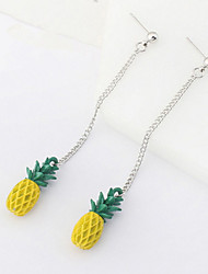 Drop Earrings Women's Personalized Long Adorable Simulation of Pineapple Daily Party Daily Graduation Gift Movie Jewelry