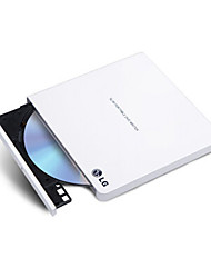 GP65NW60 LG 8 Times USB2.0 External DVD Drive Burner Win8 And MAC Operating System White