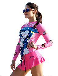 SABOLAY Femme Combinaison de plongée Haut de Combinaison La navigation de plaisance Résistant aux ultraviolets Elasthanne Térylène Tactel