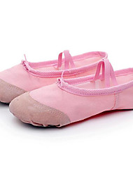 Women's Ballet Canvas Flats Practice Blushing Pink Ruby Black