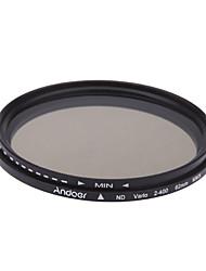 Andoer 62mm nd fader neutrale dichte einstellbar nd2 zu nd400 variabler filter für canon nikon dslr kamera
