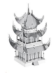 Quebra-cabeças Quebra-Cabeças 3D Quebra-Cabeças de Metal Blocos de construção Brinquedos Faça Você Mesmo Arquitetura Alumínio