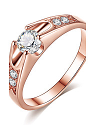 Women's  Engagement Ring Classic Elegant Rose Gold Cubic Zirconia Ring Jewelry ForWedding Anniversary Party Engagement Daily