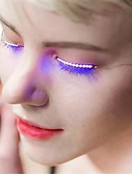 1 Pair YWXLight® 2017 New Nightclub Luminous Eyes LED Eyelash Lamp Double Skin Stickers False Eyelashes Lamp Halloween Saloon Club Party lights
