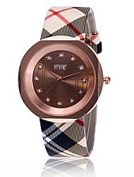 Mujer Reloj de Vestir Reloj de Moda Reloj de Pulsera Reloj creativo único Reloj Casual Chino Cuarzo PU Banda Encanto Casual Elegantes