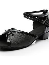 Women's Latin Paillette Sneakers Performance Paillettes Low Heel Black Customizable