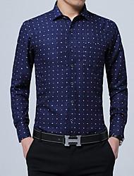 Для мужчин Для вечеринок День рождения Вечерние Офис / Карьера Повседневные На каждый день Офис Весна Лето Рубашка Рубашечный воротник,