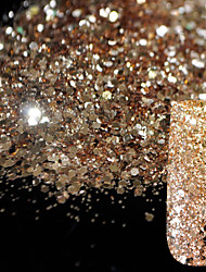 10g Pure Champagne Glitter Nail Art Tool DIY Glitter Mix Size Acrylic Powder Pentagon Sequins Sheet Nail Supplies Decoration