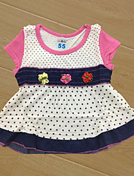 Baby Children's New Baby Casual Baby Shower Polka dots Flower Clothing Set,Floral All Seasons