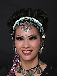 Dança do Ventre Decoração de Cabelo Mulheres Apresentação Concha Paetês Metal Concha e Estrela do Mar Moedas de Prata 1 PeçaFeriado Fadas