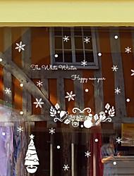 Árvores/Folhas Adesivo de Janela,PVC/Vinil Material Decoração de janela