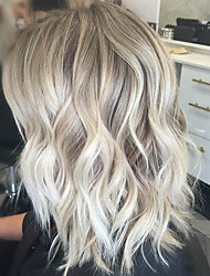 Fashionable Ombre Color Medium Long Curly Hair For Woman