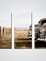 Stretched Canvas Print Old Cars Picture Printed on Canvas for  Wall Decoration Ready to Hang
