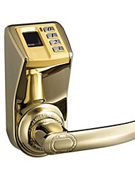 ADEL Easy To Install Single Lock Tongue Fingerprint Password Mechanical Lock -3398 Gold Edition