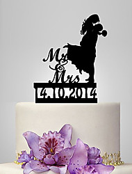 Personalized Acrylic Hug You Wedding Cake Topper