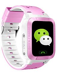 Kid's Smart Watch Digital Rubber Band Blue Pink