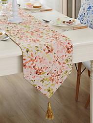 Colorful Pastoral Jacquard Fashion Cotton And Linen Table Flag 32*160cm