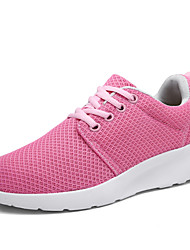Women's Oxfords Light Soles Fabric Spring Summer Casual Light Soles Rose Pink Black Flat