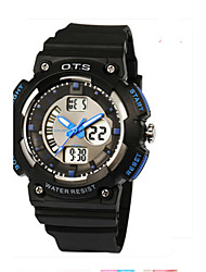 Men's Fashion Watch Digital Rubber Band Casual Black