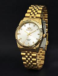 CHENXI® Hombre Reloj de Pulsera Cuarzo Cuarzo Japonés Reloj Casual Acero Inoxidable Banda Dorado Dorado Blanco Negro