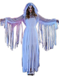 Uma-Peça/Vestidos Fantasias de Cosplay Artigos de Halloween Fantasma Fantasias Festival/Celebração Trajes da Noite das Bruxas Vintage