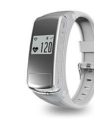 Men's Smart Watch Fashion Watch Digital Silicone Band Silver