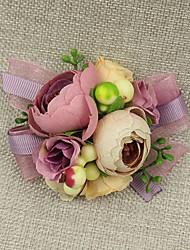 """Fleurs de mariage Petit bouquet de fleurs au poignet Cérémonie de mariage Occasion spéciale Dentelle 2.36""""(Env.6cm)"""