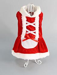 Cachorro Vestidos Roupas para Cães Casual Natal