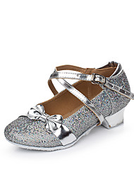 Women's Kids' Dance Shoes Sparkling Glitter Paillette Synthetic Glitter Flats Sandals Sneakers IndoorSequin Buckle Sparkling Glitter