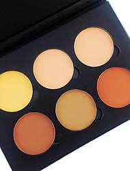 6 Color in 1 Palette , 4 Color Palette Select Polvo Corrector/Contour Coloretes Iluminadores y Bronceadores Polvo Compacto Seco Mate