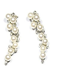 Women's Stud Earrings Imitation Pearl Rhinestone Sexy Oversized Fashion Alloy Geometric Jewelry For Party Daily Formal