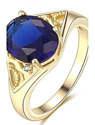 Settings Ring Band Ring  Luxury Women's Euramerican Fashion  Round Style Business  Graduation Anniversary Birthday  Movie Gift Jewelry