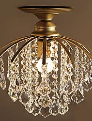 Lampe en cristal simple de style européen avec un simple chandelier en cristal Chambre simple et bar de chantier