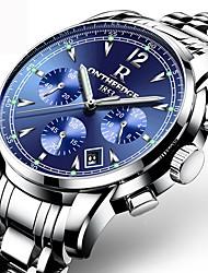 Hombre Reloj Deportivo Reloj de Vestir Reloj de Moda Reloj creativo único Reloj Casual Chino Cuarzo Calendario Resistente al Agua Acero