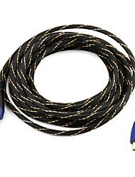 alta velocidade de cabo HDMI apoio 1.4v 3d para HDTV LED Smart, Apple TV, blu-ray dvd (5 m)